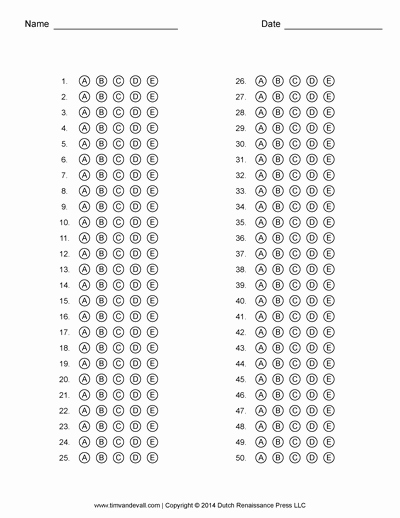 Multiple Choice Template Word Beautiful Answer Sheet Template