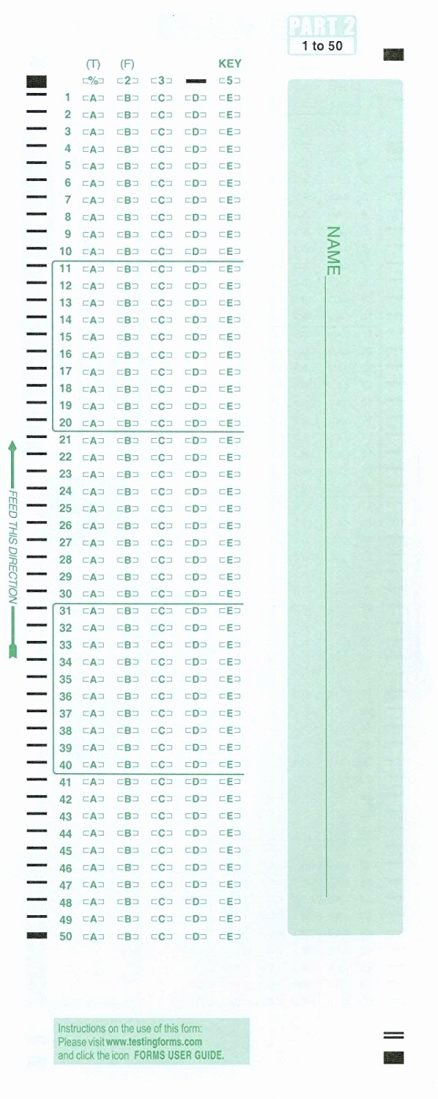 Multiple Choice Template Word New 100 Question Answer Sheet Template Sample Worksheets Blank