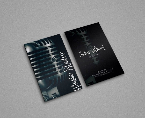 Music Business Cards Template Awesome 29 Music Business Card Templates Free & Premium Download