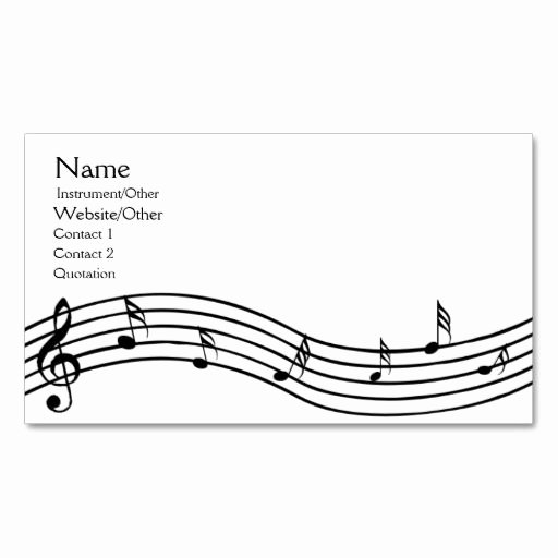 Music Business Cards Template Beautiful 125 Best Images About Musical Note Templates On Pinterest