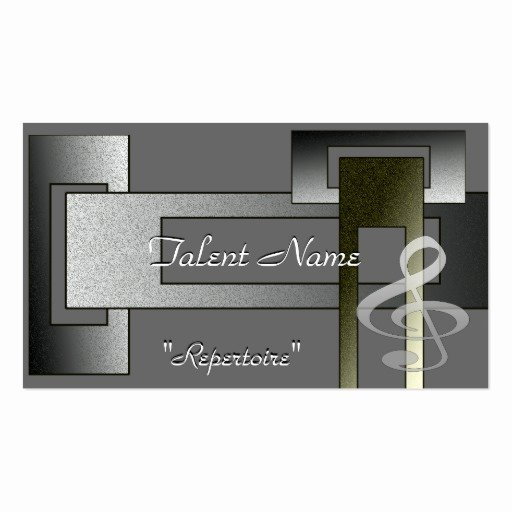 Music Business Cards Template Beautiful Music Talent Business Card Template