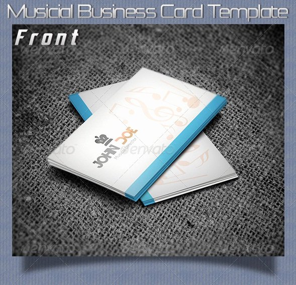 Music Business Cards Template Elegant 20 Music Business Card Templates