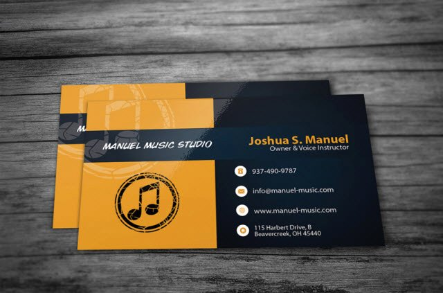 Music Business Cards Template Elegant 30 Free Business Card Templates for Every Profession