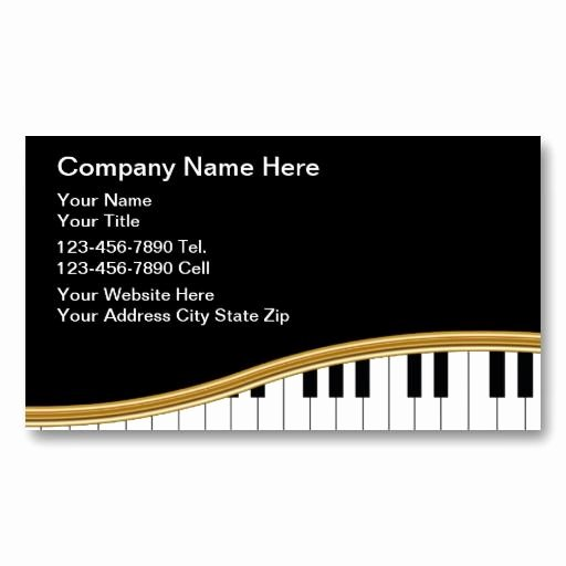 Music Business Cards Template Inspirational 20 Best Images About Piano Teacher Business Cards On