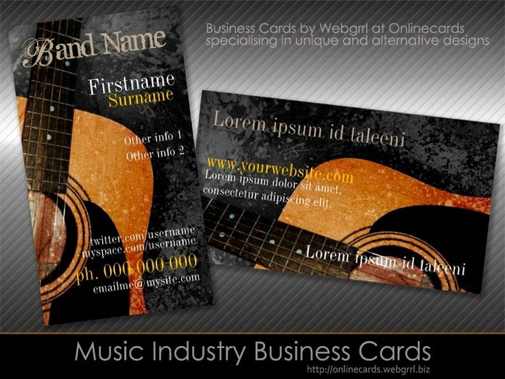 Music Business Cards Template Lovely 8 Best Images About Music Business Cards On Pinterest