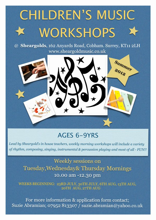Music Lesson Flyer Template Elegant Summer Music Schools Rock School