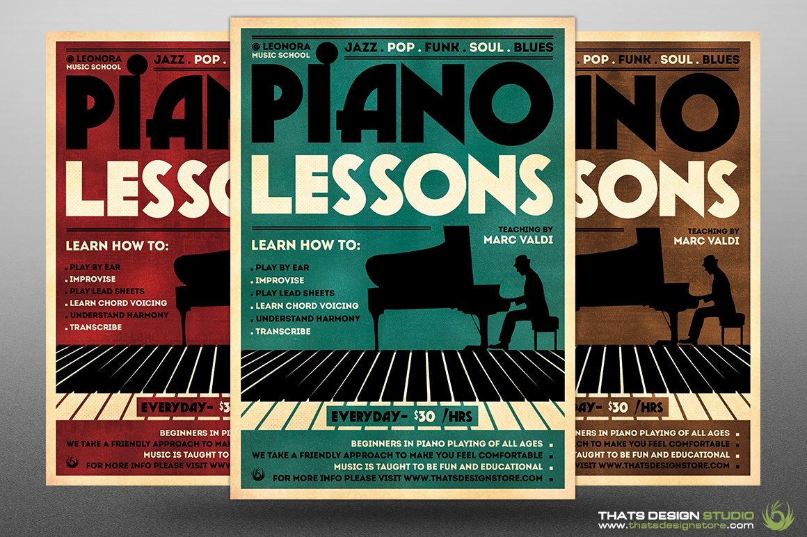 """Music Lesson Flyer Template Elegant thats Design Store On Twitter """"piano Lessons Flyer"""