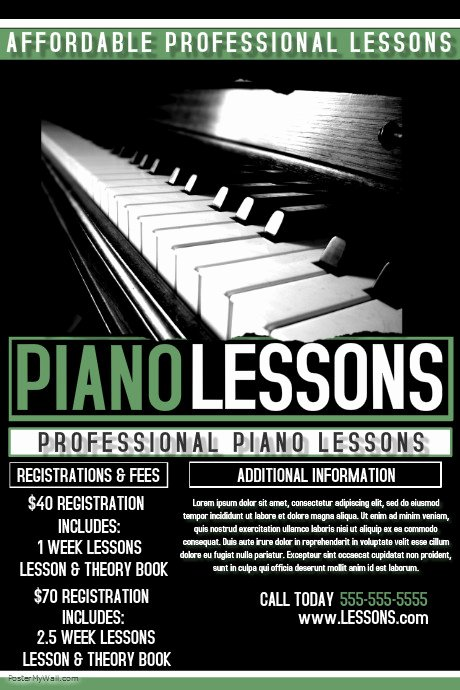 Music Lesson Flyer Template Inspirational Piano Lessons Template