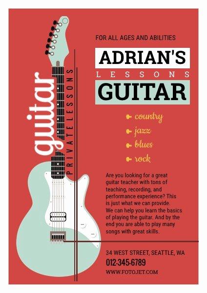 Music Lesson Flyer Template Lovely Guitar Musical Flyer Design Yourweek E2f291eca25e