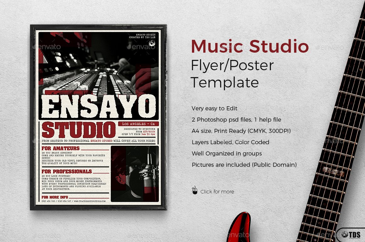 Music Lesson Flyer Template New Music Studio Flyer Template by Lou with Free Flyer