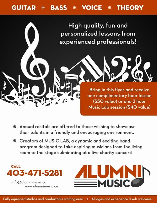 Music Lesson Flyer Template Unique Music Lessons Flyer Standards for Essential Elements