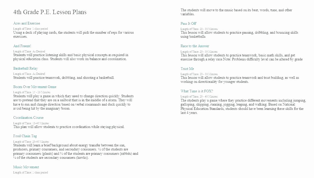 Music Lesson Plan Template Luxury 4th Grade Music Lesson Plans – Powertation