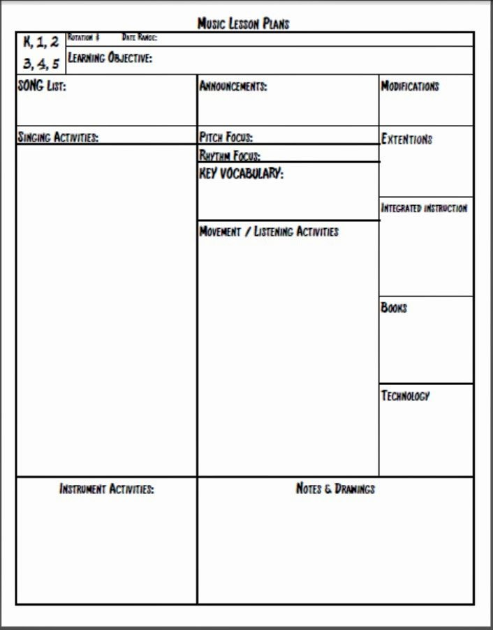 Music Lesson Plan Template Unique Melodysoup Blog Music Lesson Plan Template