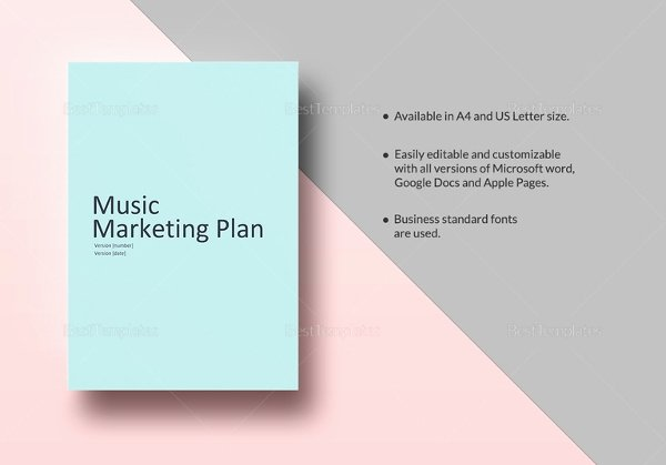Music Marketing Plan Template Awesome 22 Microsoft Word Marketing Plan Templates