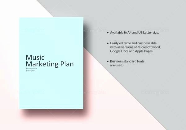 Music Marketing Plan Template Best Of Sample Music Business Plan – Blogopoly