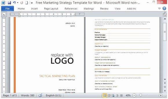 Music Marketing Plan Template Elegant Template for Marketing Plan Microsoft