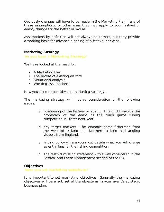 Music Marketing Plan Template Unique Sample Mission Statement for event Planning Business