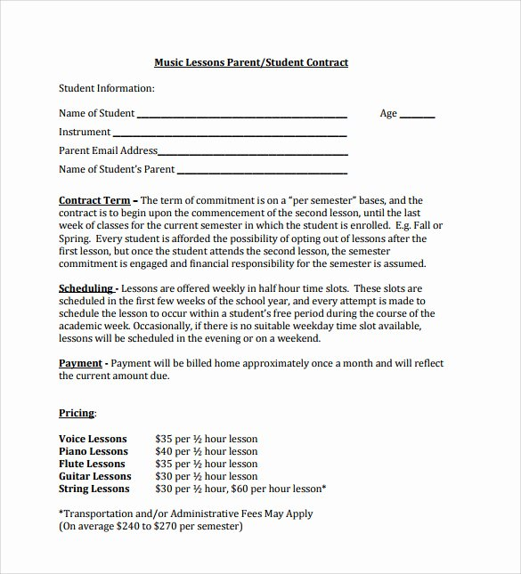 Music Performance Contract Template Best Of 15 Music Contract Templates