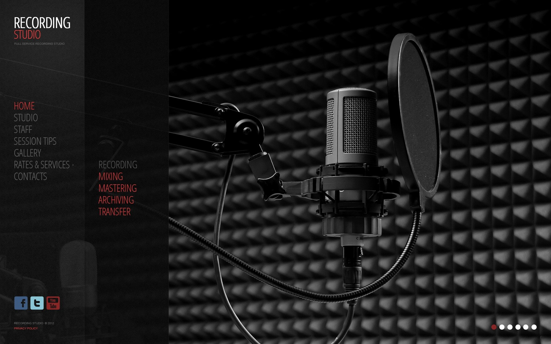 Music Producer Website Template Awesome Recording Studio Website Template