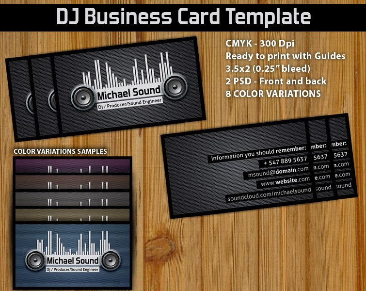 Music Producer Website Template Beautiful Music Producer Business Card Template Psd