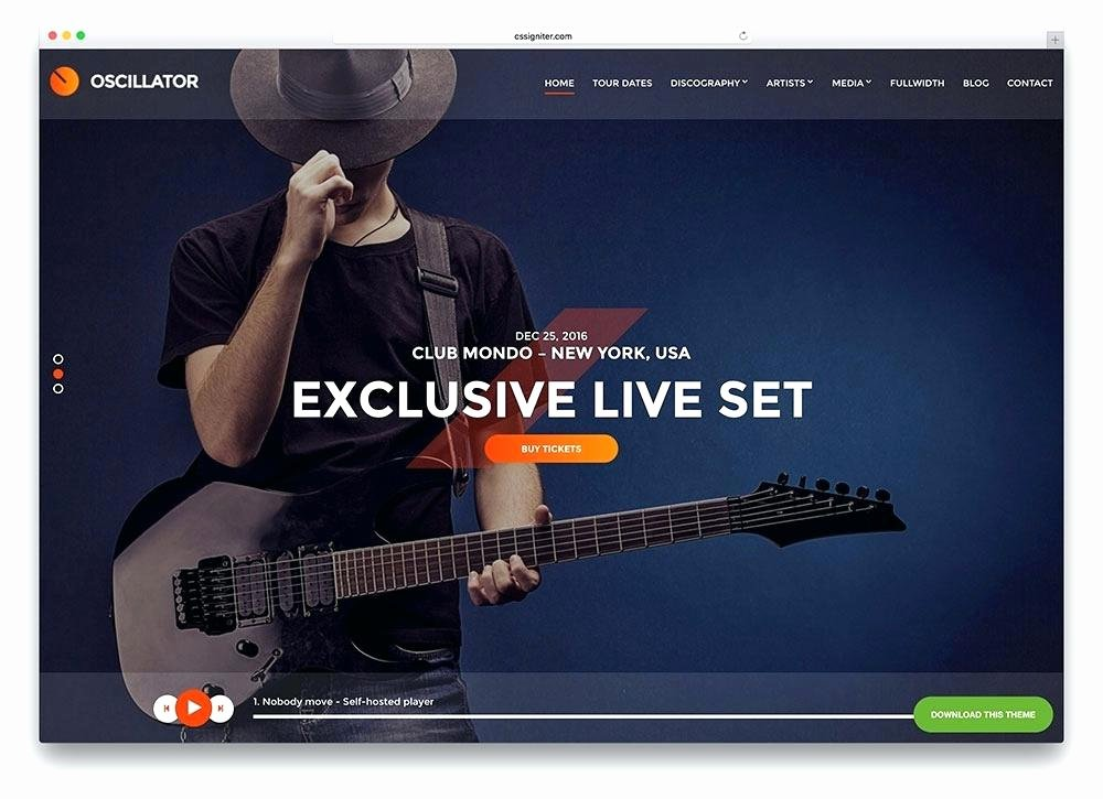 Music Producer Website Template Best Of Free Music Template Wordpress Music Industry Website