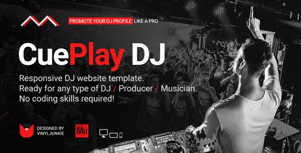 Music Producer Website Template Elegant Cueplay – Dj Producer Music Band Responsive Website