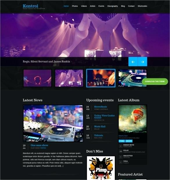 Music Producer Website Template Elegant Free Music Template Wordpress Music Industry Website
