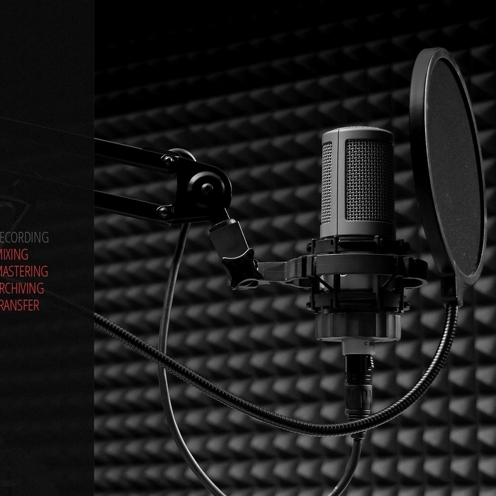 Music Producer Website Template Elegant Recording Studio Website Template