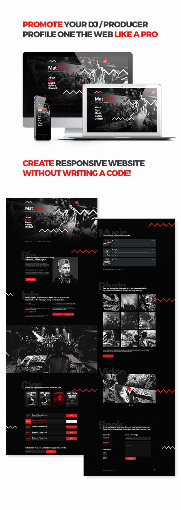 Music Producer Website Template Fresh Cueplay Dj Producer Music Band Responsive Website