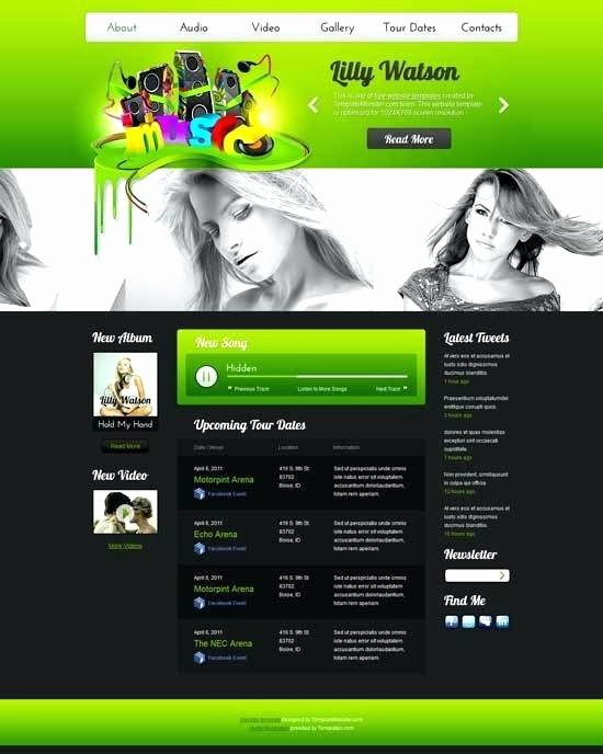 Music Producer Website Template Lovely Music Producer Website Template – Kelsie