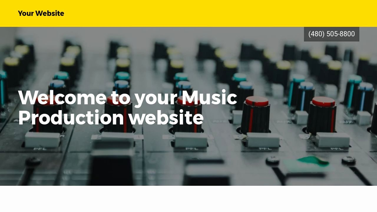 Music Producer Website Template Lovely Music Production Website Templates