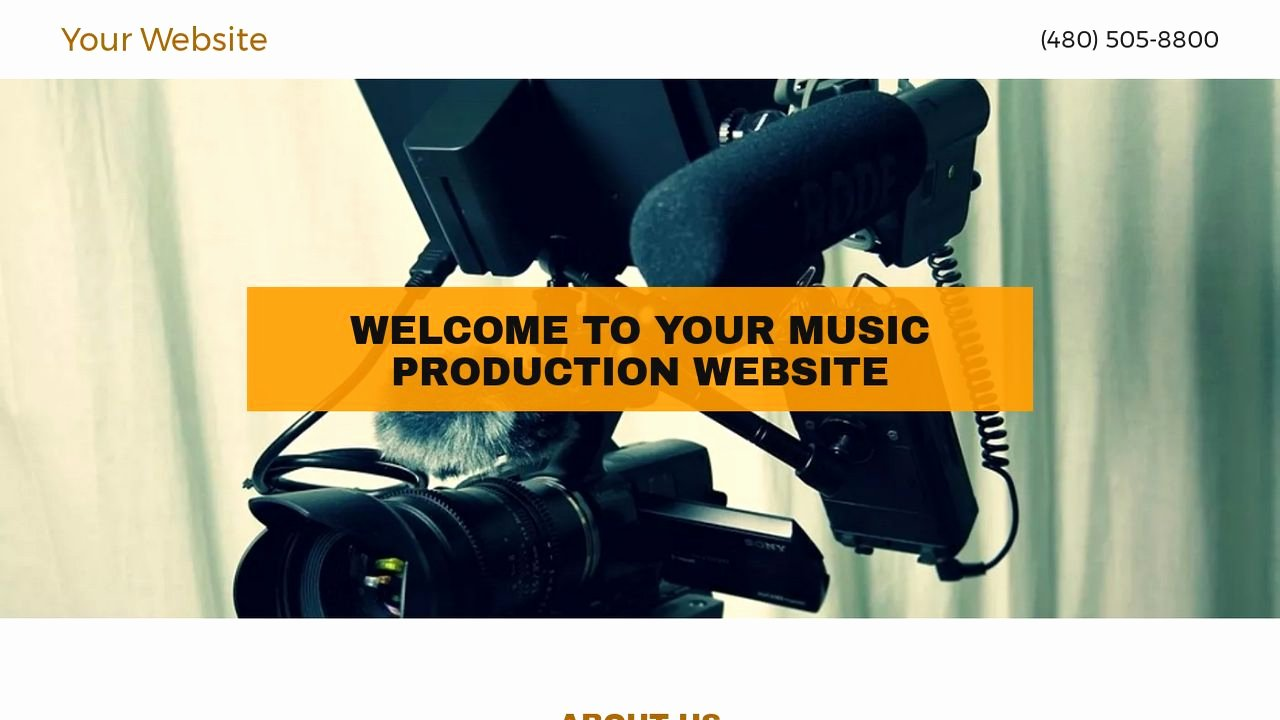 Music Producer Website Template Luxury Music Production Website Templates