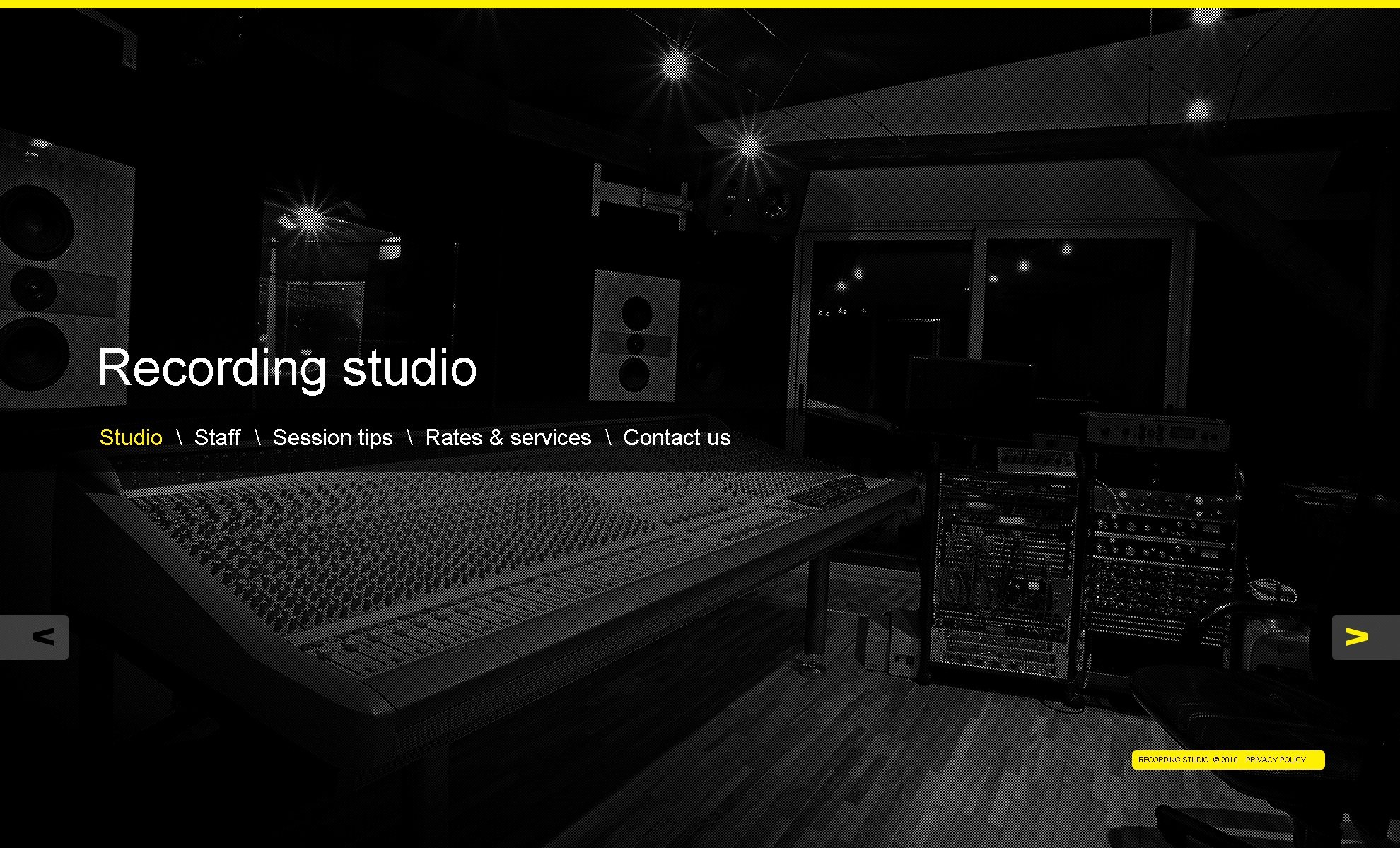 Music Producer Website Template Luxury Recording Studio Website Template