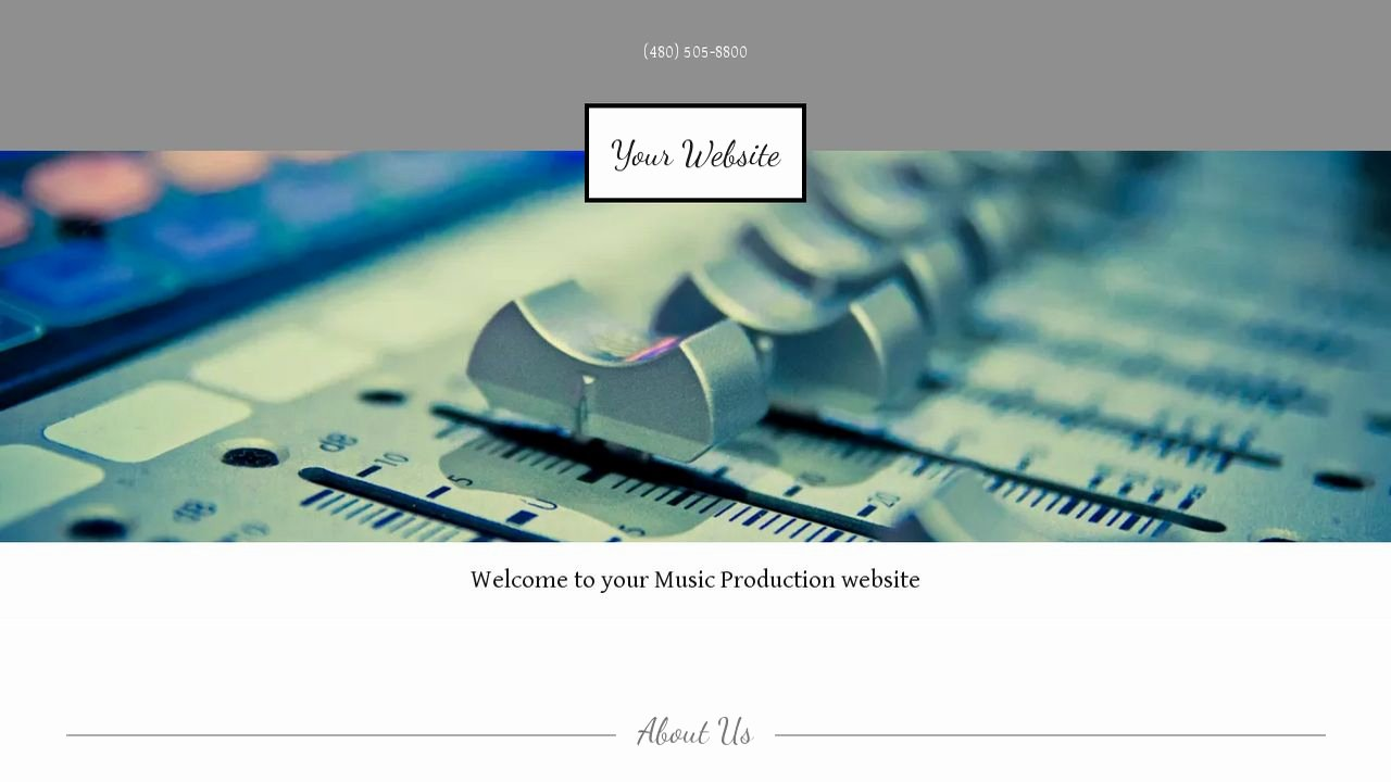 Music Producer Website Template Unique Music Production Website Templates