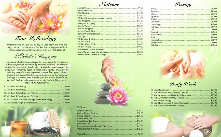Nail Price List Template Awesome Old Fashioned Free Nail Salon Price List Template Ideas