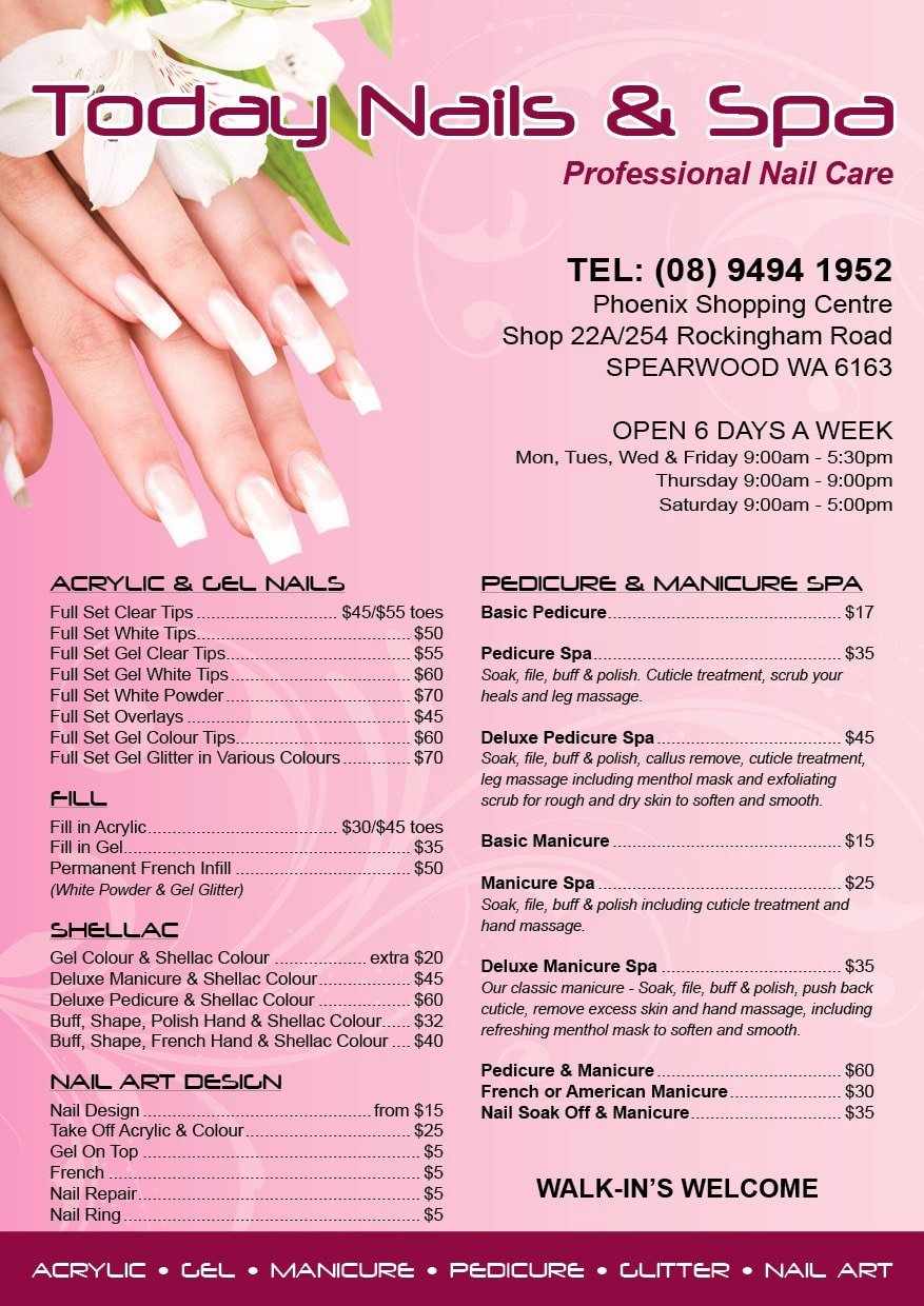 Nail Price List Template Elegant Nail Price List Design & 26 Reviews In Picsrelevant