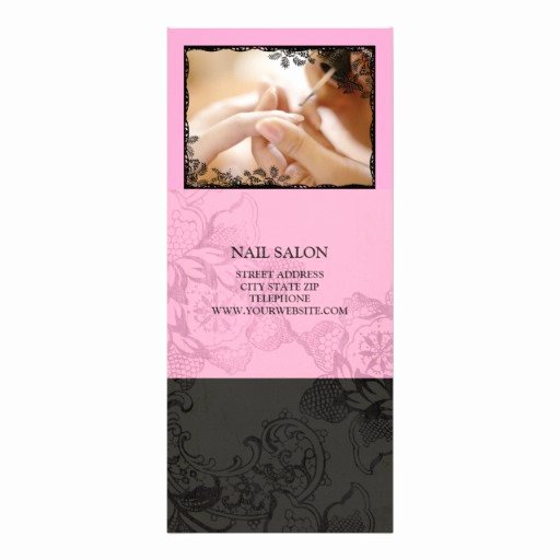 Nail Price List Template Inspirational Nail Salon Services Price List Pink Rack Card Template