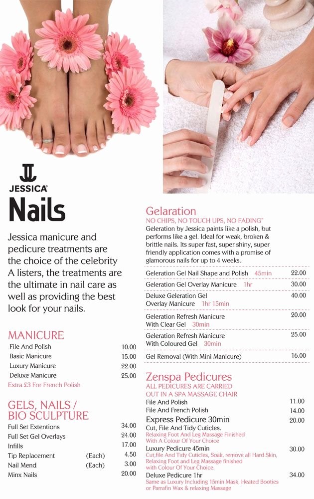 Nail Price List Template Lovely 25 Best Ideas About Nail Salon Prices On Pinterest
