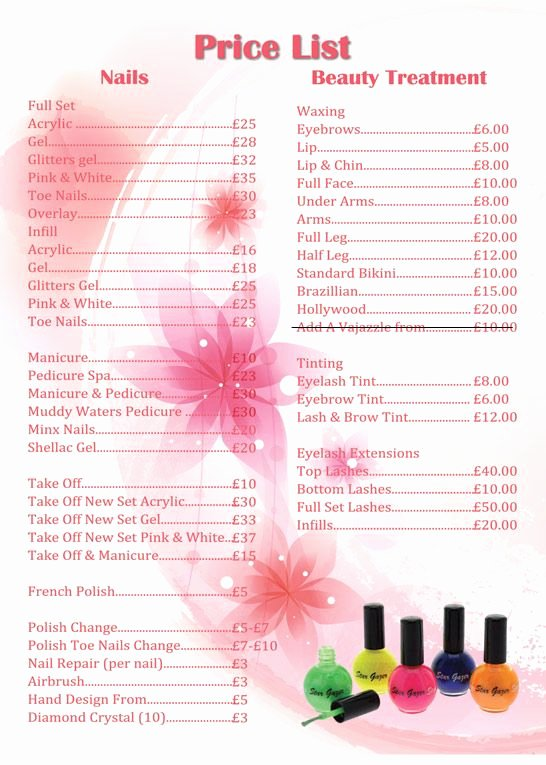 Nail Price List Template Unique Apple Nails In Conroe Price List Price List