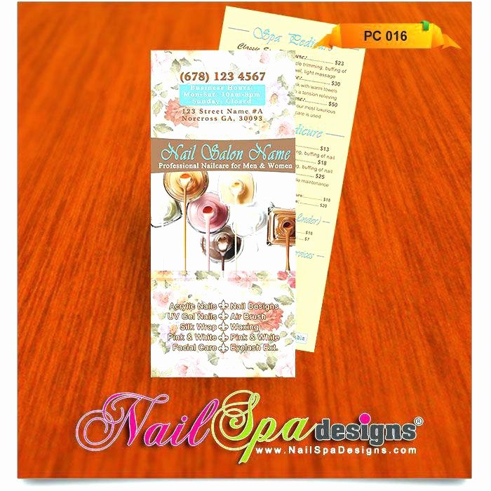 Nail Price List Template Unique Nail Salon Price List Template for Visit Catalog Printing