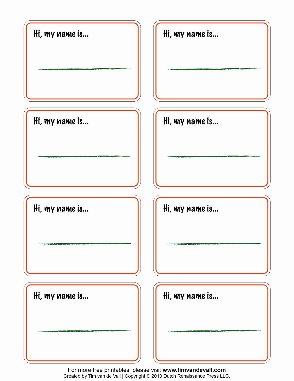 Name Badge Template Free Inspirational Free Printable Blank Name Tags Printable 360 Degree