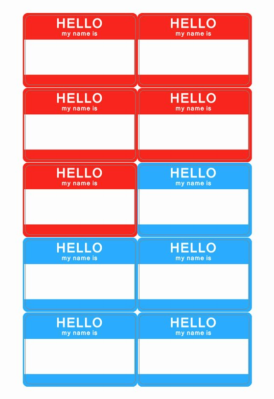 Name Badge Template Free New Name Tag Template