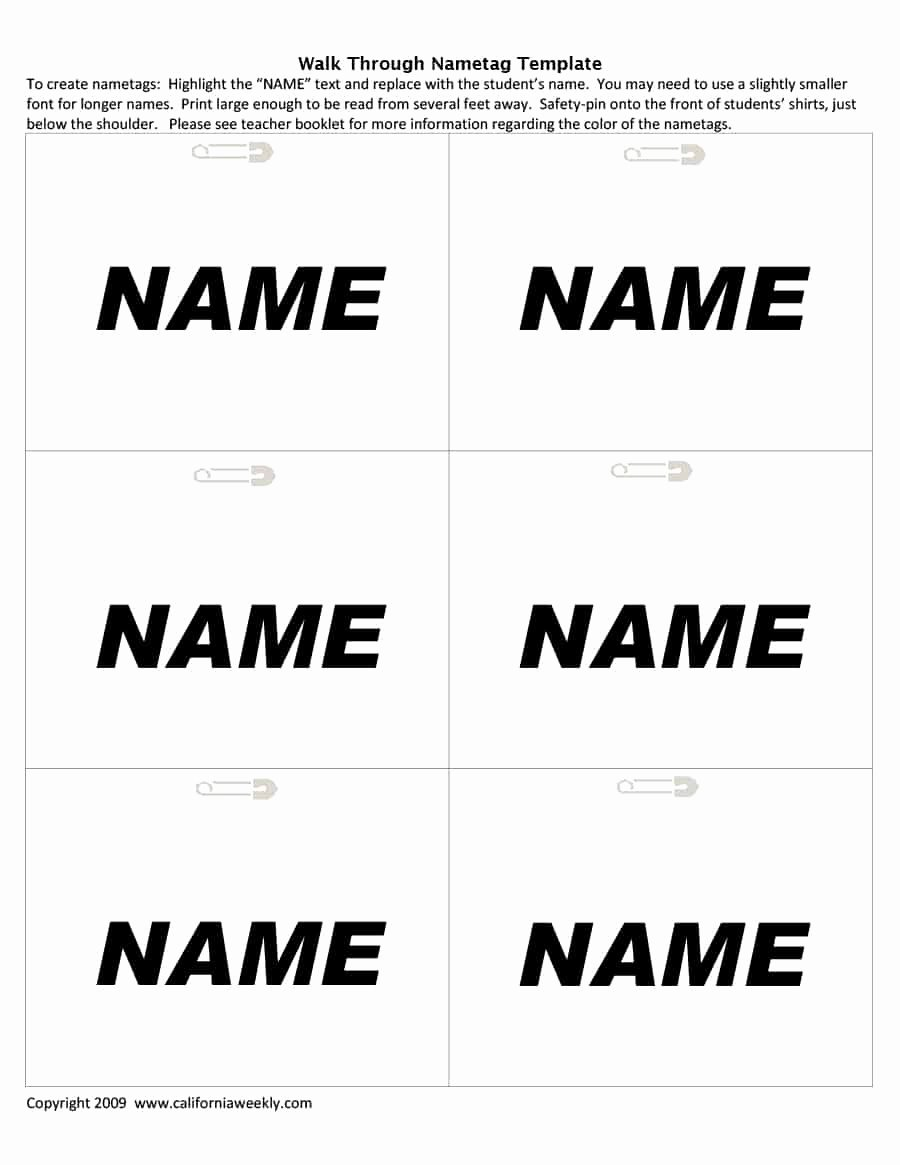 Name Tag Template Free Inspirational 47 Free Name Tag Badge Templates Template Lab