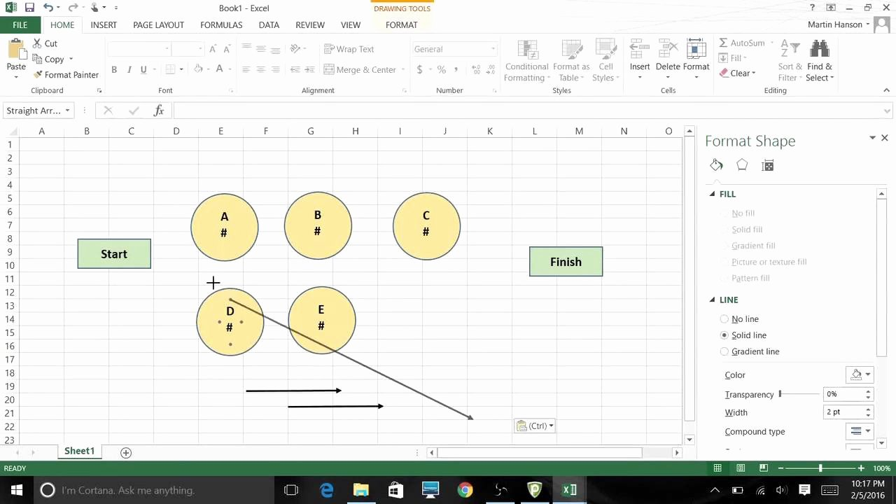 Network Diagram Template Excel Unique Using Excel 2013 Graphic tools to Create Network Diagrams
