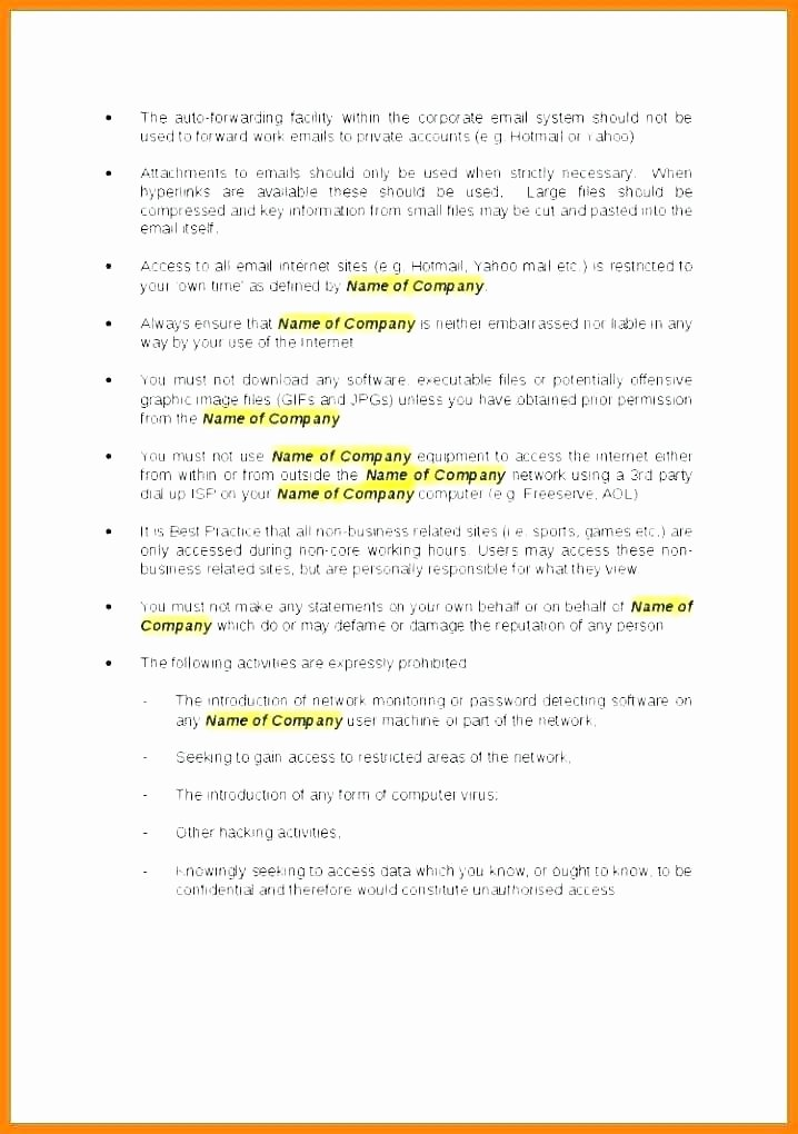 Network Security Policy Template Luxury Security Policy Template 7 Free Word Document Downloads