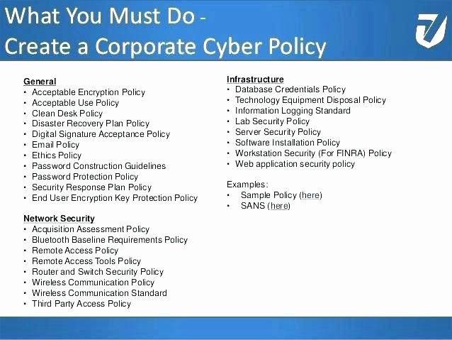 Network Security Policy Template Unique Pany Cyber Security Policy Template