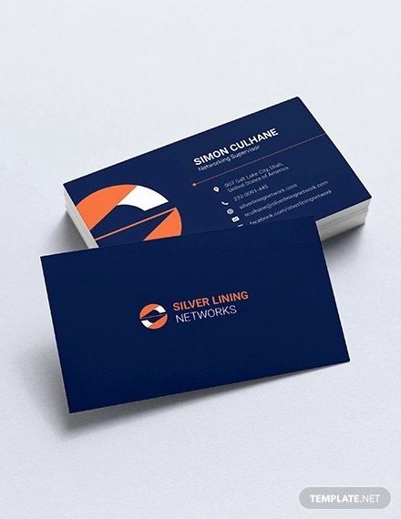 Networking Business Card Template Awesome 33 Information Technology Business Card Templates In Word