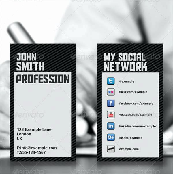 Networking Business Card Template Elegant social Network Business Card Template Like Us