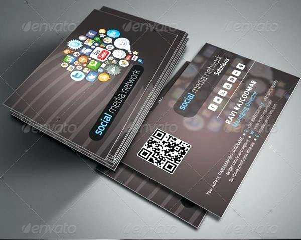 Networking Business Card Template New Career Networking Business Card Template social Network