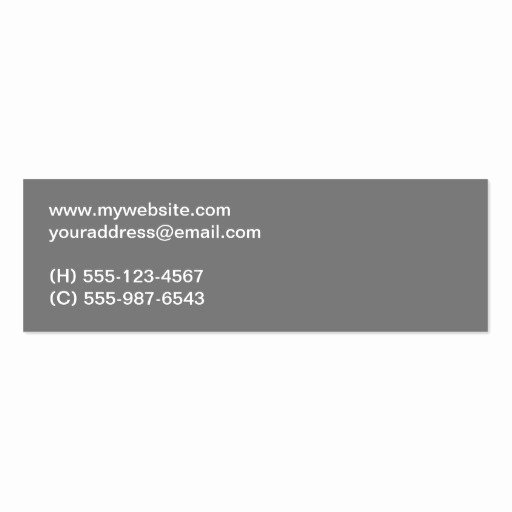 Networking Business Card Template Unique Clear Bold Type Gray Two tone Personal Networking Business